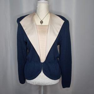 ST JOHN Vintage Knit Peplum Top